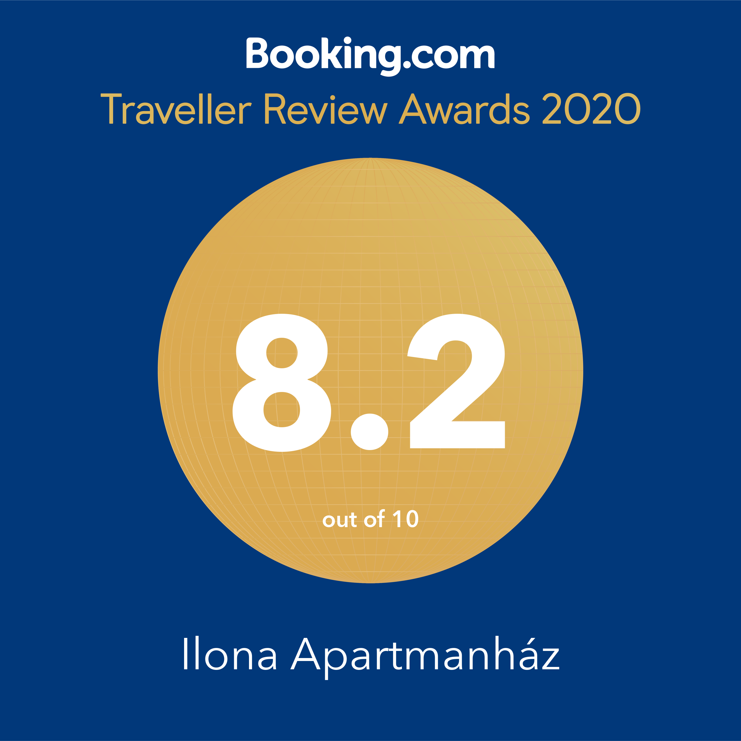 booking.com - Traveller Review Award 2020